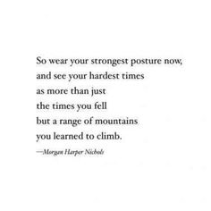 Poem on strength - Morgan Harper Nichols quote, strength quote, strong, for women, inner stren. Life Quotes Love, Great Quotes, Quotes To Live By, Inspirational Quotes, Meaningful Quotes, Loving Myself Quotes, Motivational Quotes, Profound Quotes, Quotable Quotes