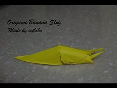 ▶ Origami Banana Slug Video - How to fold an origami banana slug - YouTube....So I didn't watch all painful 17 minutes, but this is pretty cool