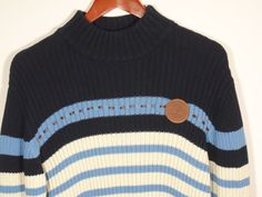 Timberland Sweater Boys Size 16/18 Large 100% Cotton Pullover Blue Stripes  #Timberland #Pullover #Everyday