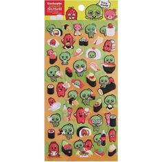 Kamio Stickers: Gachapin & Sushi