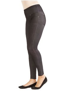 Denim LeggingsAll the style of your favorite jeans with the comfort of a legging. Complete with real pockets!