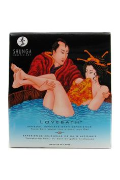 """Shunga Lovebath Sensual Lotus turns bath water into a luxurious jelly. Inspired by the sensual ritual of Japanese """"Love Baths"""" where eroticism is promoted, Shunga is offering today's lovers a pause in time to enjoy a unique bath experience. Japanese Bath, Japanese Love, Honeymoon Essentials, Romantic Bath, Massage Lotion, Bath Gel, Shave Gel, Foreplay, Bath Salts"""