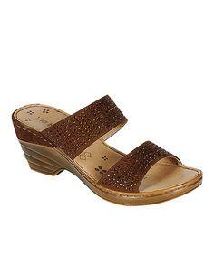 Look what I found on #zulily! Brown Nancy Rhinestone Sandal #zulilyfinds