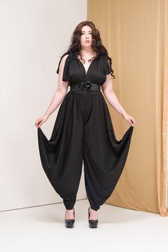 Plus Size Harem Pants Jumpsuit by falcieridesigns on Etsy https://www.etsy.com/uk/listing/249121475/plus-size-harem-pants-jumpsuit