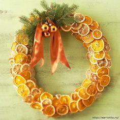 Dry orange wreath