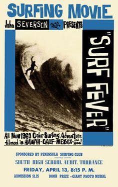 John Severson- vintage surf movie art.