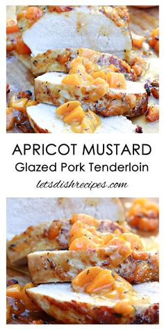 Apricot Mustard Glazed Pork Tenderloin Recipe | Easy enough for a week night dinner, but fancy enough for company!