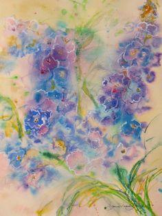 abstract painting original watercolor art by JaniceTraneJones