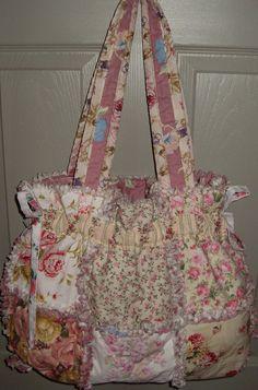 rag quilt purse by gabbygirlo on Etsy, $37.00