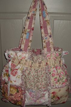 rag quilt purse by gabbygirlo on Etsy, $37.00
