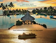 Experience Idyllic Tahiti by Land & Sea. Paradise is closer than you think—and now it's more affordable, too. Paul Gauguin Cruises now offers a hotel-and-cruise package that combines a pre-cruise stay at the InterContinental Tahiti Resort & Spa—long rated the top hotel on the island of Tahiti—with a 7-night Tahiti & the Society Islands cruise aboard the award-winning m/s Paul Gauguin. Truly a match made in tropical paradise!