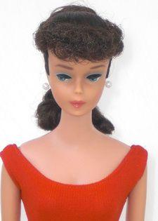#6 Brunette Ponytail Barbie Doll
