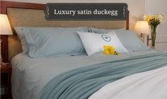 Luxury Satin Duck Egg 200 T/C