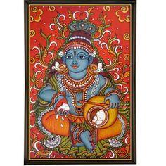 Vennakannan - Mural painting of little Krishna eating Butter