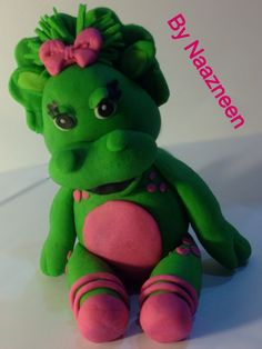 Barney / baby bop 4 cake topper by Naazneen