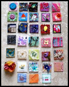 Fabric Inchie Tutorial From Carla Barrett.  Love Inchies!