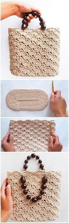 Mode Crochet, Bag Crochet, Crochet Handbags, Crochet Roses, Crochet Quilt, Small Store Design, Crochet Designs, Crochet Patterns, Vitrine Design