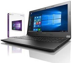 Lenovo Ordinateur portable 15,6», Intel N2840 Dual Core, 2×2.58GHz, 8Go RAM, HDD 750Go, Intel HD Graphic, HDMI, Win10 Prof. 64-Bit…