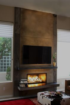 9 Wondrous Ideas: Living Room Remodel Ideas How To Make living room remodel with fireplace ceilings.Living Room Remodel On A Budget Counter Tops living room remodel ideas paint colours.Living Room Remodel Before And After Pictures. Fireplace Feature Wall, Wood Fireplace Surrounds, Fireplace Wall, Fireplace Ideas, Custom Fireplace, Bedroom Fireplace, Living Room With Fireplace, Small Basement Remodel, Basement Remodeling