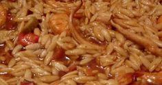 Γεύσεις θάλασσας στο πιάτο μας .. Γιουβέτσι με γαρίδες και θράψαλα !!! ΥΛΙΚΑ ΚΑΙ ΕΚΤΕΛΕΣΗ Σε κατσαρόλα βάζουμε δύο θράψαλα μεγάλα κο... Food And Drink, Chicken, Meat, Ethnic Recipes, Cubs
