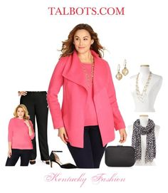 TALBOTS Womens Double Face Wing Collar Jacket Outfit by kentuckyfashion on Polyvore featuring polyvore fashion style Talbots women's clothing women's fashion women female woman misses juniors