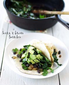 beans and greens burrito - vegan