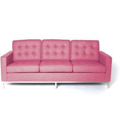 Rove Concepts Florence Knoll Sofa - Carnation Reproduction ($1,575) ❤ liked on Polyvore featuring home, furniture, sofas, carnation, platform sofa and rove concepts