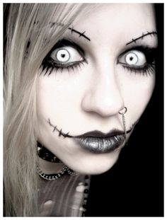 2014 Zombie Halloween Nightmare Before Christmas Face Paint - White Makeup #2014 #Halloween