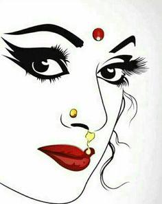 38 Ideas Eye Drawing Pencil Creative For 2019 Dancing Drawings, Girly Drawings, Art Drawings Sketches Simple, Pencil Art Drawings, Mandala Art, Arte Krishna, Madhubani Art, Indian Art Paintings, Indian Women Painting