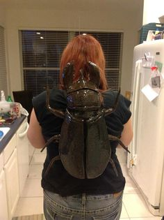 Giant wearable  Time Beetle by EclecticallyEdie on Etsy