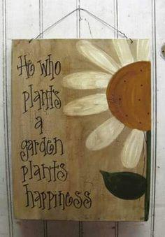 Neat garden sign