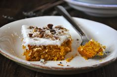 Pumpkin Bars with Cream Cheese Frosting Recipe on Yummly. @yummly #recipe