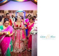 Vishala & Jose Hindu Indian Wedding Bride