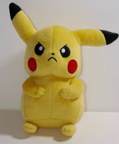 "Tomy Pokemon Angry Face Pikachu 8"" Plush  #TOMY"