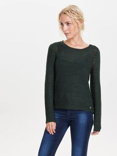 SOLID KNITTED PULLOVER, Scarab, large