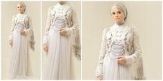 Vemale.com - Tidak perlu lagi bingung memilih busana pengantin jika Anda memakai hijab, Irna La Perle menghadirkan desain busana pengantin muslimah yang anggun.