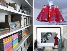 Shelves and bottle lamps
