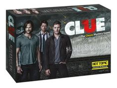 The classic game, Clue, with a new theme based on the popular TV show, Supernatural. Castiel, Supernatural Fans, Supernatural Merchandise, Crowley, Supernatural Birthday, Supernatural Crafts, Sam Winchester, Jensen Ackles, Emmanuelle Vaugier