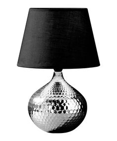 Premier Housewares Hammered Silver Ceramic Table Lamp with Black Fabric Shade Lighting, Lamp, Tiffany Style Lamp, Lights, Silver Table Lamps, Buy Lamps, Beautiful Lighting, Fabric Shades, Premier Housewares