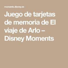 Juego de tarjetas de memoria de El viaje de Arlo – Disney Moments