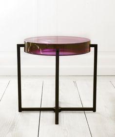 Resin Side Table, McCollin Bryan, purple, amethyst