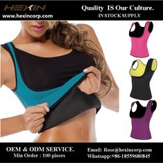 Weight Loss Neoprene Sauna Sweat Vest Fajas Hot Body Shaper For Women