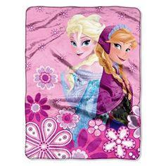 The Northwest Company Disneys Frozen Spring Sisters Micro Raschel Throw 46Inch by 60Inch >>> For more information, visit image link-affiliate link.