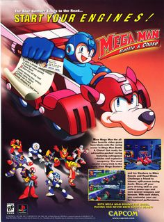 An advert for the long forgotten Mega Man title Mega Man: Battle & Chase. This is actually quite a bizarre advert as it was in EGM Magaz...