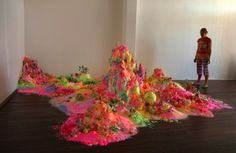 Colorful Mounds of Sugar Form Fantasy Landscapes in Pip and Pop's Installation Work