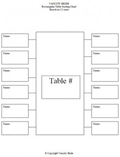 Wedding Seating Plan Template & Planner – FREE Download | Wedding ...