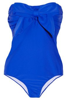 bow bandeau swimsuit / miu miu