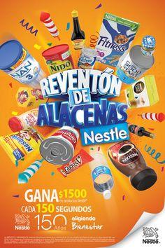 Arte Digital para Nestlé Promoción Reventón de Alacenas