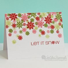 Snowflake Greetings Casual Friday stamps