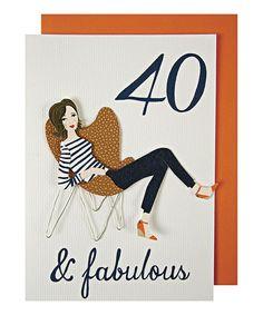 40 & Fabulous Birthday Card & Envelope